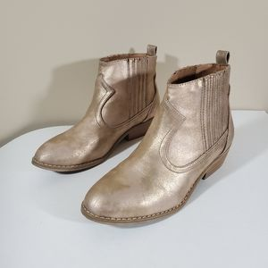BOGO Sale! Universal Thread Target ankle booties gold 7.5